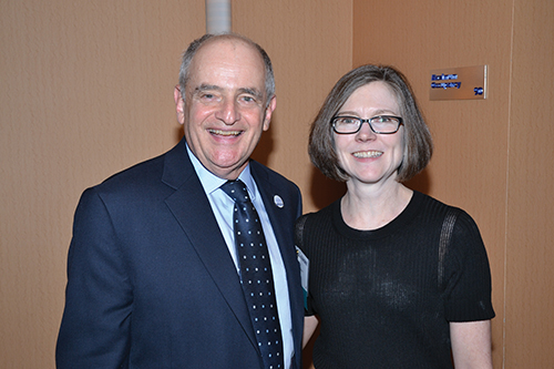 ASA President Barry Nussbaum with his invited speaker, Jo Craven McGinty of The Wall Street Journal