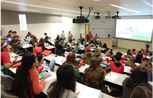 Students discover the opportunities for careers in statistics and data science during Florence Nightingale Day.